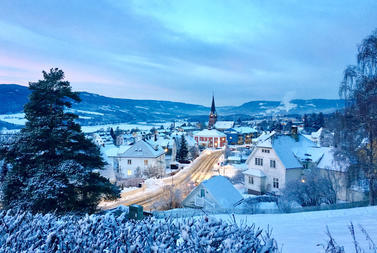 A street in Lillehammer at Winter