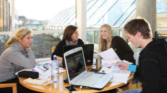 Students working together (photo: INN University)