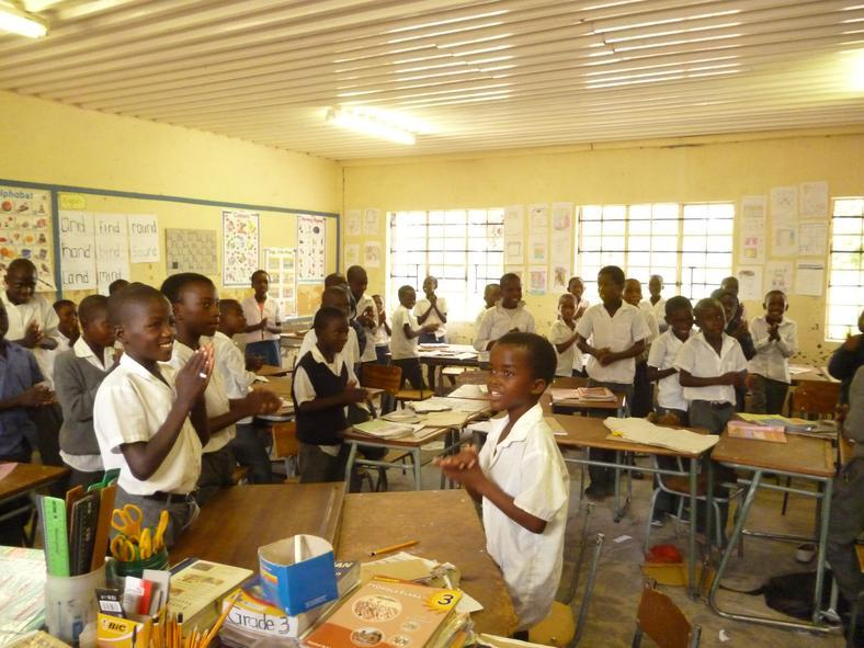 From a school-class in Namibia (photo: INN University)