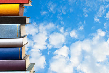 Books and sky
