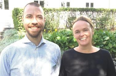 Kai Arne Hansen and head of department Ingeborg Lunde Vestad