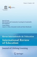 Articles about transformative and social learning for sustainable development
