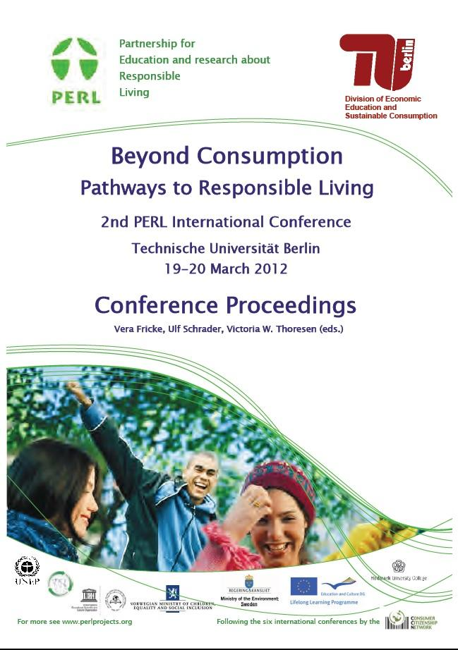 2012 Beyond consumption. Front page
